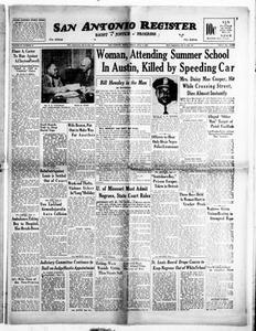 San Antonio Register (San Antonio, Tex.), Vol. 20, No. 25, Ed. 1 Friday, July 7, 1950 San Antonio Register