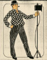 Costume design drawing, lighting man, Las Vegas, June 5, 1980