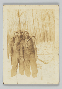 Photographic print of two unidentified men outdoors