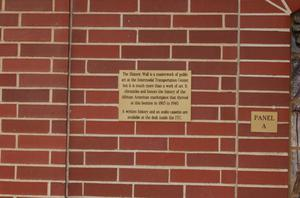 [Plaque About Historic Wall]