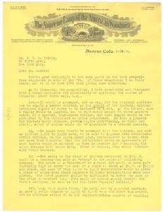Letter from J. E. Ormes to W. E. B. Du Bois