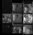 Set of negatives by Clinton Wright including El Rio Club, Wolfman Jack, salesman at Ford, and Home Extension Program, 1970