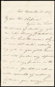 Letter from Isabel Jennings, Cork, [Ireland], to Maria Weston Chapman, November 11, 1847