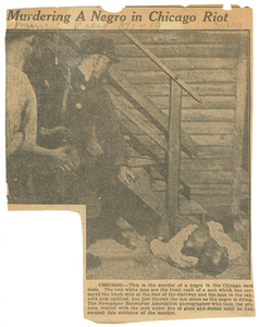 Murdering a negro in Chicago riot