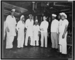 [Annapolis, Md. Chief cook R.E. Brown and some of his Negro assistants at the US Naval academy]