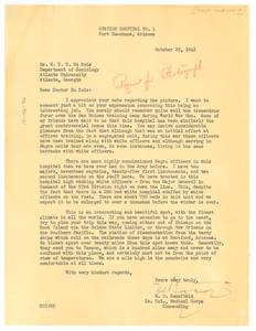 Letter from M. O. Bousfield to W. E. B. Du Bois