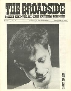 The Broadside. Vol. 1, no. 25