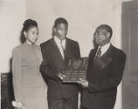 Jackie Robinson, Rachel Robinson and Rev. W.C. Williamson at White Rock Baptist Church