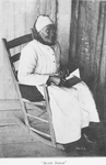 Aunt Jonas. She is Drualla Jones, aged ninety-four, and was the slave Thomas Ferrell. She and two others were the only old slaves I found who were not loyal to their owners. During the war she tried to burn her master's house