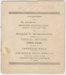 Addresses of His Excellency, Grover Cleveland and Booker T. Washington, ... (Title page)
