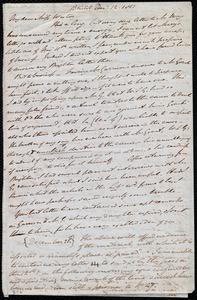 Letter from John Bishop Estlin, Bristol, [England], to Anne Warren Weston, Dec. 12, 1851
