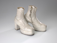 Costume boots for the Wizard in The Wiz on Broadway, worn by Carl Hall