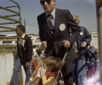People arriving at the 1978 South Alabama Fair in Montgomery, Alabama, for a special event for mentally handicapped children.