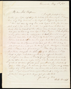 Letter from Mary Merrick Brooks, Concord, [Mass.], to Maria Weston Chapman, May 8th / [18]43