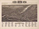 Perspective map of Beloit, Wis. 1890