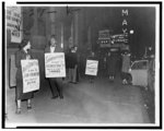 [Bayard Rustin, Mrs. Bowen Jackson, and Mrs. Earl Williams picket Ford's Theatre in Baltimore, Maryland]