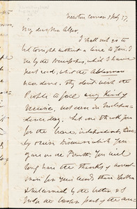 Letter from Lydia Dodge Cabot Parker, Newton Center, [Massachusetts], to William Rounseville Alger, 1857 July 1 and 1862 June 9