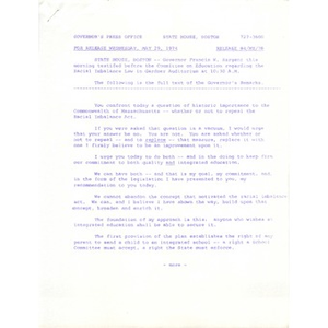 Press release, May 29, 1974.