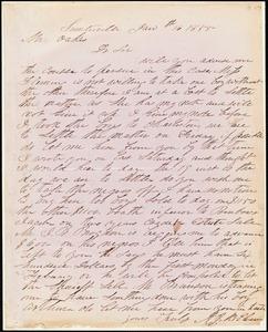 A. J. McElveen, Sumterville, S.C., autograph letter signed to Ziba B. Oakes, 16 January 1855