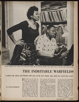 The Inimitable warfields : loaded with talent and blessed with some of the best breaks, they make the world their oyster