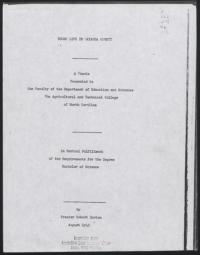 Negro Life in Watauga County by Frazier Robert Horton