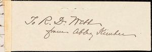 Letter from Abby Kimber, Philad[elphi]a, [Pa.], to Richard Davis Webb, [October 4, 1863]