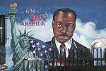 MLK Jr. mural at Meat Market, 42nd Place at Vermont Ave., LA, 2002