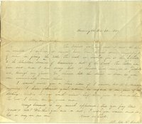 Letter from Charlotte to Samuel Cowles, 1839 October 28.