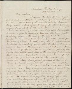 Letter from Anne Warren Weston, Melodeon, [Boston], to Deborah Weston, Thursday Morning, Jan. 27, 1842