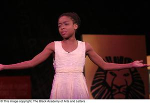 Young Performer Stretching Arms Outward Hip Hop Broadway: The Musical