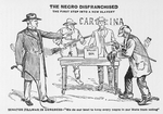 """The Negro disfranchised; the first step into a new slavery. Senator Tillman in Congress-""""We do our best to keep every negro in our State from voting"""""""