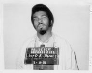 Mississippi State Sovereignty Commission photograph of Lloyd B. James following his arrest in Grenada, Mississippi, 1970 November 9