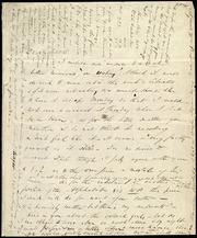 Letter to] Dear M.W.C. [manuscript
