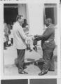 C. E. Smith Receiving a Certificate from Paul Dillingham, Freetown, Sierra Leone, 1967