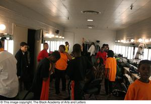Group of Performers in Dressing Room Hip Hop Broadway: The Musical