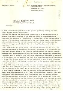 Letter from Walter J. Bogus to W. E. B. Du Bois