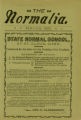 The Normalia, 1900-03