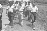 "Martin Luther King, Jr., Andrew Young, and others, participating in the ""March Against Fear"" through Mississippi, begun by James Meredith."