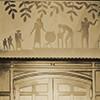 Aaron Douglas mural above the door, Cravath Hall