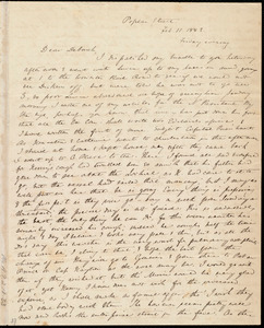 Letter from Anne Warren Weston, Poplar Street, [Boston], to Deborah Weston, Feb. 11, 1842. Friday evening