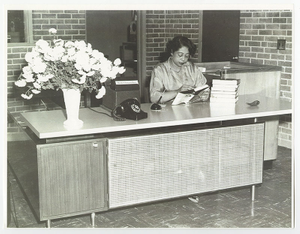 Photograph of Mildred L. Terry at the Fourth Avenue Library, Columbus, Georgia
