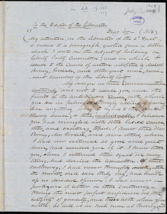 Letter from Samuel Fessenden, to William Lloyd Garrison, [July 13, 1847?]