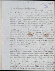 Letter from Samuel Fessenden, to William Lloyd Garrison, [July 13, 1847?]