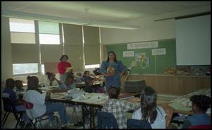 Woman Presenting in Gates Elementary Classroom San Antonio Chapter of Links Records