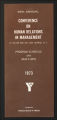 Conferences. Silver Bay Human Relations in Industry Conference. Conference materials, 1951-1962, 1968, 1973-1978. (Box 13, Folder 22)