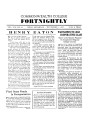 Commonwealth College Fortnightly, Vol. 13, No. 19, November 1, 1937; Henry Eaton, Final Steps Ready In Reorganization; Wartiainen To Lead Cooperatives Class; How Butte Miner Captured Control of Legislative Delegation While on Strike; Negro Congress Endorsed Commonwealth Program; College Librarian Makes Technical Contributions; Research in Labor Background of South Essential for New Organizational Drives; Director and Industrial Manager Visiting in East; Sunday Discussion Series Commences; Students Combine Party And Benefit For Strikers; Joint Action Committee to Crystalize Opinion