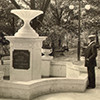 Cal Johnson at his fountain