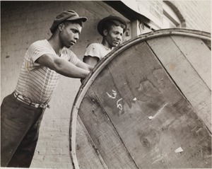 Rolling a Hogshead of Tobacco (Richmond, Virginia), from the project The Negro in Virginia