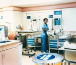 Nurse in hospital maternity ward