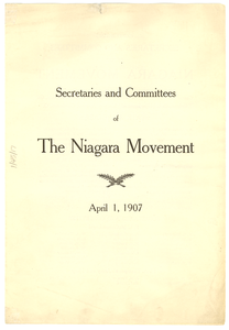 Secretaries and Committees of the Niagara Movement
